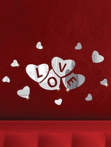 Love In The Heart 3D Mirror Sticker - Zeeshaan