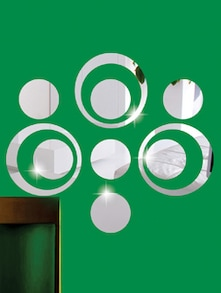 Circles 3D Mirror Sticker - Zeeshaan