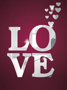 Just Love 3D Mirror Sticker - Zeeshaan