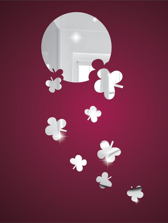 Falling Flowers 3D Mirror Sticker - Zeeshaan