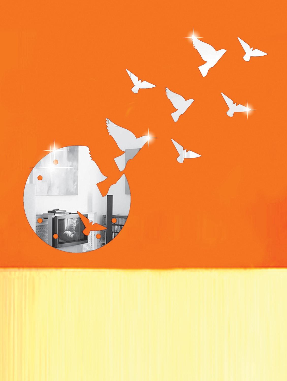 Flying Birds 3D Mirror Sticker - Zeeshaan