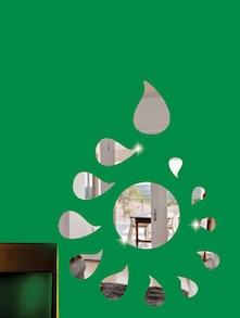 Dancing Droplets 3D Mirror Sticker - Zeeshaan