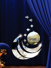 Crescent Moon S 3D Mirror Sticker - Zeeshaan