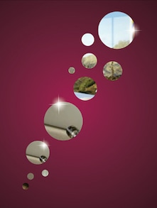 Multiple Circles 3D Mirror Sticker - Zeeshaan