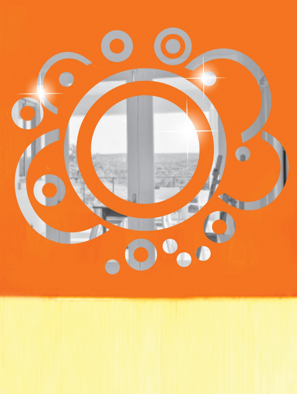 Turning Circles 3D Mirror Sticker - Zeeshaan
