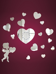 Cupid Heart 3D Mirror Sticker - Zeeshaan