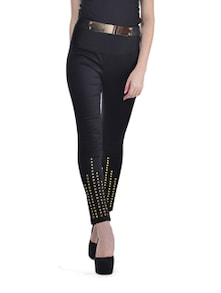 Studded Black Rockstar Pants