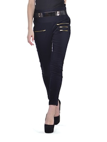 Zippered Skinny Black Pants