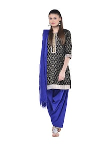 Salwar And Dupatta Set In Royal Blue - Jaipurkurti.com