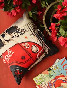 Vintage Car Print Cushion Cover - Yolo By Spread