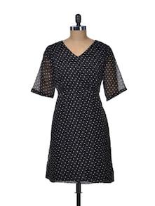 Black Polka Play Dress - ETHNIC