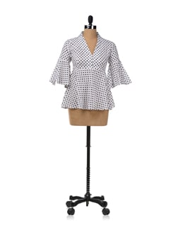 70's Flare Top With Polka Dots - RIGOGLIOSO