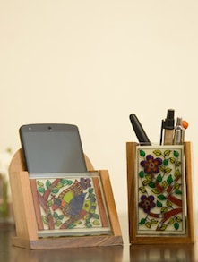 Artistic Memo Box And Pen Stand - V Creations