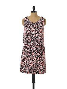 Flower Party Cotton Knit Dress - Color Cocktail