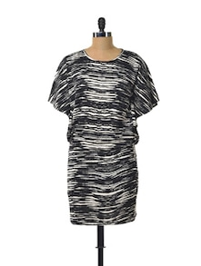 Monochrome Love Polyester Dress - Color Cocktail