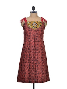 Maroon Printed Cotton Tunic - Indie Cotton Route