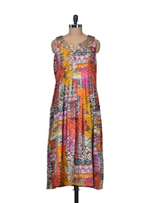 Multicolored Sequined Dress - Indie Cotton Route