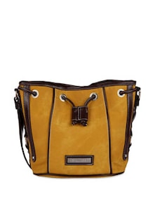 Yell Yellow Faux Leather Bag - Lino Perros