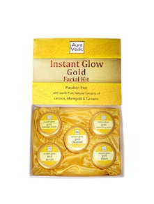 Instant Glow Gold Facial Kit - Auravedic