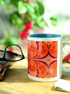 Ceramic Mug With A Psychedelic Joker Print - Springflies Design