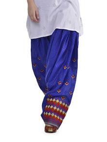 Ethnic Blue Phulkari Patiala Salwar - Home Of Impression