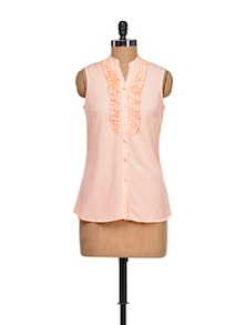 Pink Panache Ruffled Top - Meira