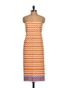 Orange & Yellow Zig-Zag Print Suit Piece - K22