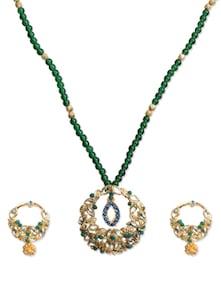Attractive Emerald Necklace Set - KSHITIJ