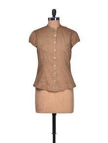 Bravo Brown Cotton Shirt - A Justbe