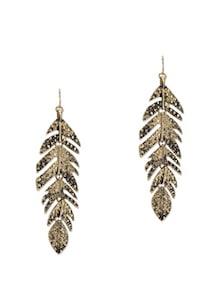 Antique Gold Leaf Earrings - Fayon