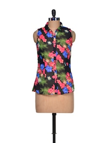 Muticoloured Floral Dress - Mind The Gap