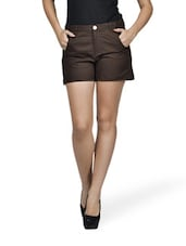 Chocolate Fantasy Brown Shorts - Mind The Gap