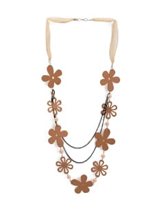 Wooden Flower Charm Necklace - ALESSIA