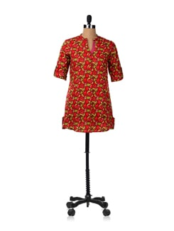 Vibrant Day Short Kurta - Cotton Curio