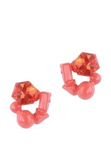 3-D Cluster Pink Stud Earrings - Addons