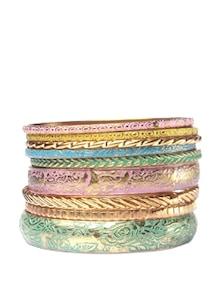 Stylish Multi Coloured Bangle Set - Addons