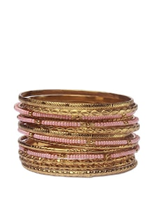 Exotic Ethnic Golden Bangle Set - Addons