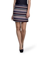 Striped Textured Mini Skirt - By