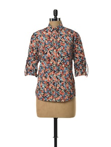 Printed Floral Shirt - TREND SHOP