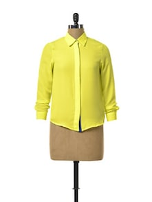 Neon Yellow Sheer Shirt - TREND SHOP