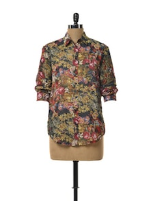 Floral Sheer Shirt - TREND SHOP