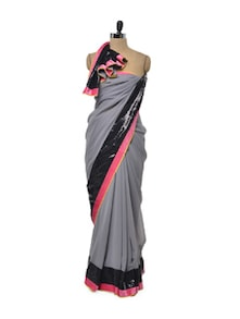 Kajol Grey Georgette Saree - Get Style At Home