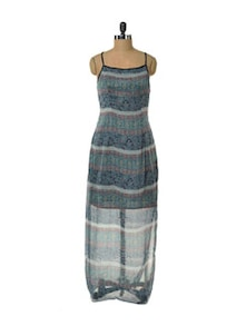 Bravo Blue Maxi Dress - HERMOSEAR