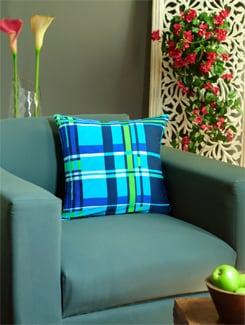 Blue & Green Digital Print Cushion Cover - REME