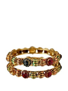 Lovely Stylish Gold Bangle - Maayra
