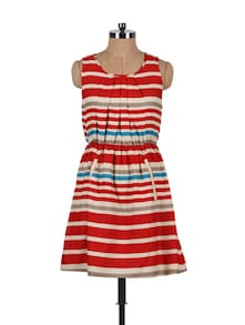 Red Striped Dress - Stylechiks