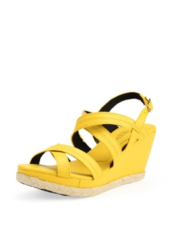 Yellow Strappy Wedge Heels - Carlton London