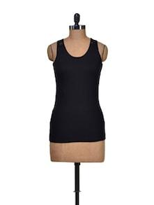 Black Hot Stretch Dress - Harpa