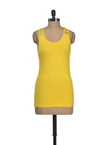 Bight Yellow Stretch Dress - Harpa