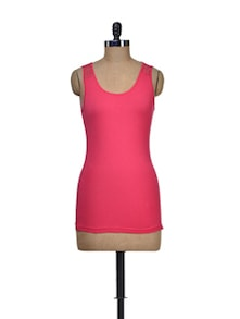 Electric Red Stretch Dress - Harpa